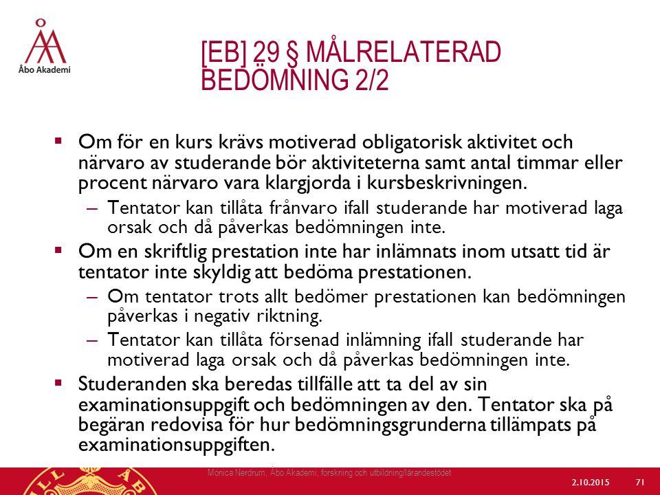 [eb] 29 § målrelaterad bedömning 2/2